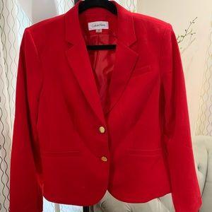Calvin Klein Red Blazer